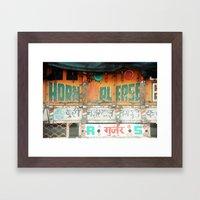 horn please! india truck sign Framed Art Print