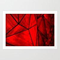 Modern Abstract Triangle… Art Print
