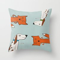 The Fox And The Hound Lo… Throw Pillow