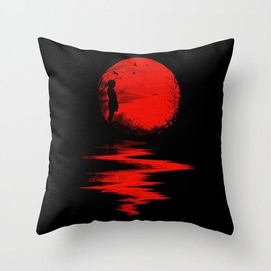 The Land of the Rising Sun Throw Pillow