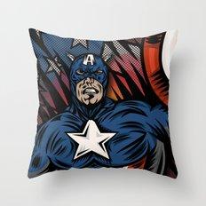 Captaino Americano Throw Pillow