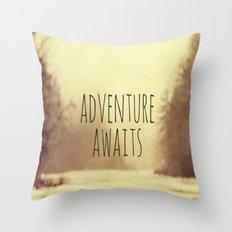 Adventure Awaits II Throw Pillow