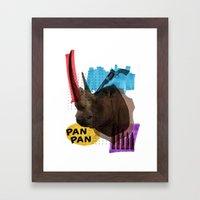 Rhinocéros Framed Art Print