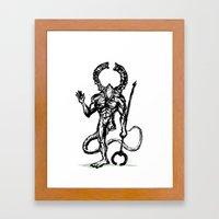 Your friend the Titanite Demon - Dark Souls Framed Art Print