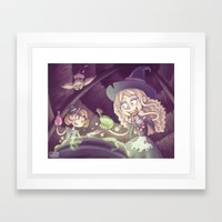 Little Witches Framed Art Print