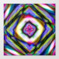 Geometric Rainbow Canvas Print