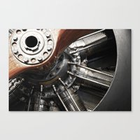 Airplane motor Canvas Print