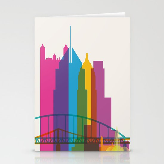 Shapes of Pittsburgh. Accurate to scale Stationery Card
