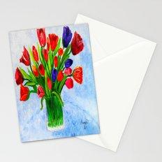 Short stem tulips Stationery Cards