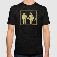 Abstract Love (Light) Mens Fitted Tee Tri-Black SMALL