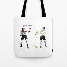 Floral fight Tote Bag
