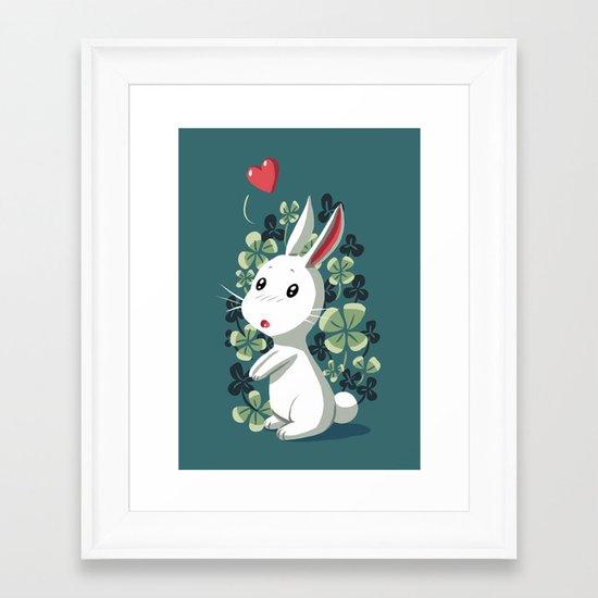 Clover Bunny Framed Art Print