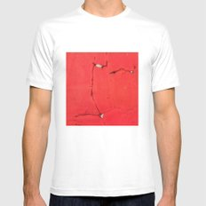 Behind SMALL White Mens Fitted Tee