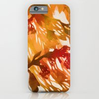 iPhone & iPod Case featuring Morning Blossoms 2 - Red Variation by Claire Astra