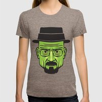 Walter White Portrait.  Womens Fitted Tee Tri-Coffee SMALL
