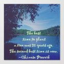 Best time to plant a tree Canvas Print