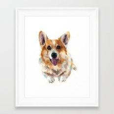 Corgi painting, watercolor Corgi, dog paintings, dog breed mugs, dog breed pillows Framed Art Print
