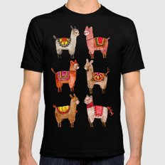 Alpacas SMALL Mens Fitted Tee Black