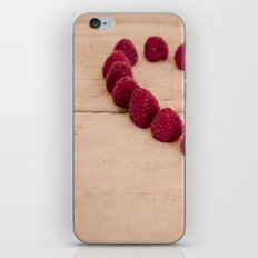 i heart you because you're sweet iPhone & iPod Skin