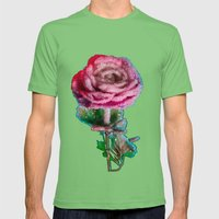 Crystalized Love Rose Mens Fitted Tee Grass SMALL