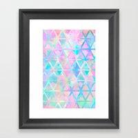 Pink Pastel Aztec Patter… Framed Art Print