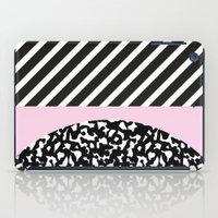 Memphis Pink Stripes iPad Case
