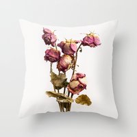 The old Roses Throw Pillow