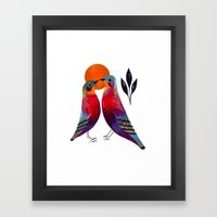 Sun Birds Framed Art Print