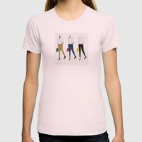 White Shirt Womens Fitted Tee Light Pink SMALL