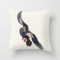 Eagle // Animal Poker Throw Pillow