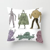dfjdadf Throw Pillow