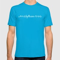 By the Sea Mens Fitted Tee Teal SMALL