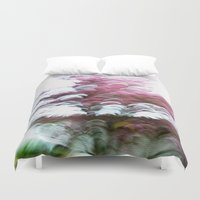 Abstract Pink Flowers 3 Duvet Cover