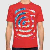 Abstract America Mens Fitted Tee Red SMALL