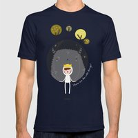 Where are the wild things? Mens Fitted Tee Navy SMALL