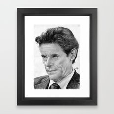 Willem Defoe Traditional Portrait Print Framed Art Print
