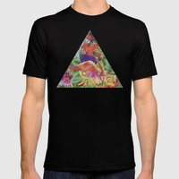 TROPICAL LOVE Mens Fitted Tee Black SMALL
