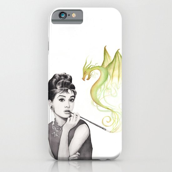 Audrey and Dragon iPhone & iPod Case