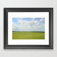 The Grass Is Always Gree… Framed Art Print
