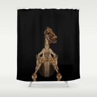 Dinosaur Skeleton All Over Print Shower Curtain