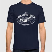 Tacos Stuffed Lobster Mens Fitted Tee Navy SMALL
