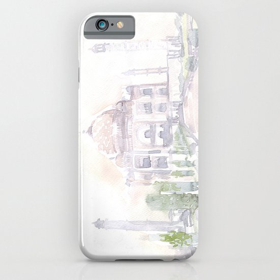 Watercolor landscape illustration_India - Taj Mahal iPhone & iPod Case