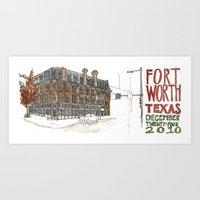 Fort Worth Art Print