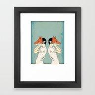 Foxes Print Take 2 Framed Art Print