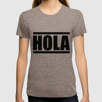 HOLA / Russian Autumn Womens Fitted Tee Tri-Coffee SMALL