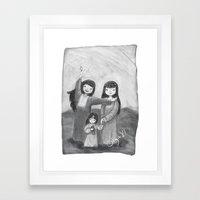 Emirati Sisters Framed Art Print
