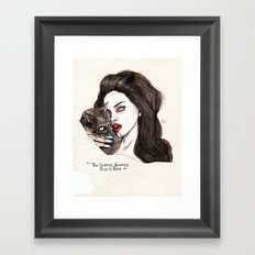 "Lana ""The Saddest,badd… Framed Art Print"