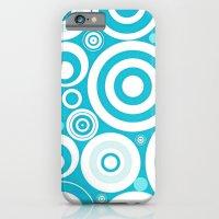 iPhone & iPod Case featuring Soft Blue Circles by Elena Indolfi