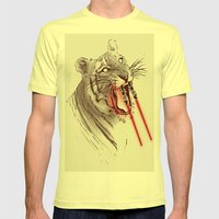 Light Saber Tooth Tiger Mens Fitted Tee Lemon SMALL