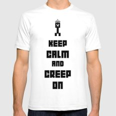 Keep Calm and Creep On Mens Fitted Tee White SMALL